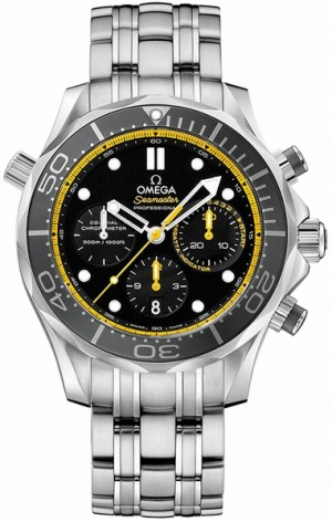 Omega Seamaster Black & Yellow Men's Watch 212.30.44.50.01.002
