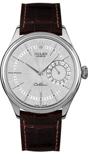 Rolex Cellini Date Silver Dial Luxury Men's Watch 50519