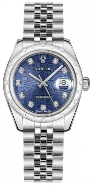 Rolex Datejust 31 Blue Jubilee Women's Watch 178344