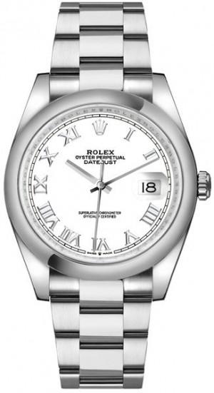 Rolex Datejust 36 White Dial Roman Numerals Men's Watch 126200