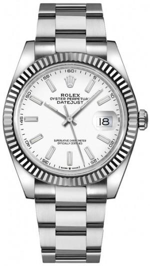 Rolex Datejust 41 White Dial Gold & Steel Men's Watch 126334