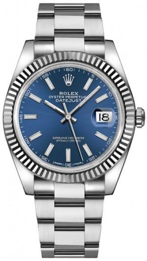 Rolex Datejust 41 Blue Dial Oyster Bracelet Watch 126334