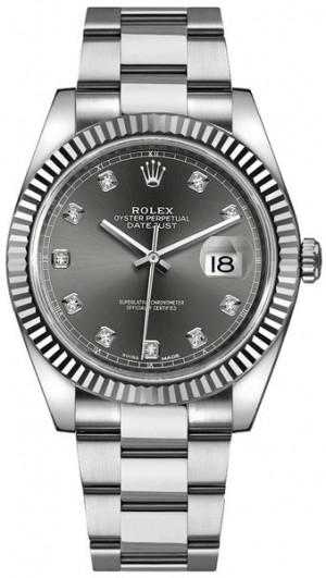 Rolex Datejust 41 Diamond Dial Men's Watch 126334
