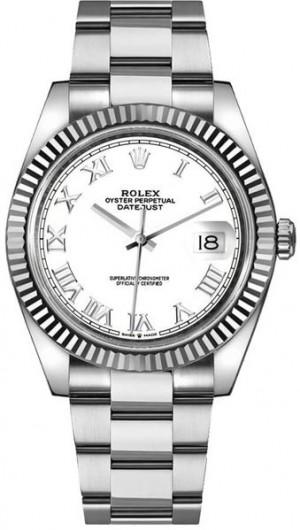 Rolex Datejust 41 White Dial Oyster Bracelet Men's Watch 126334