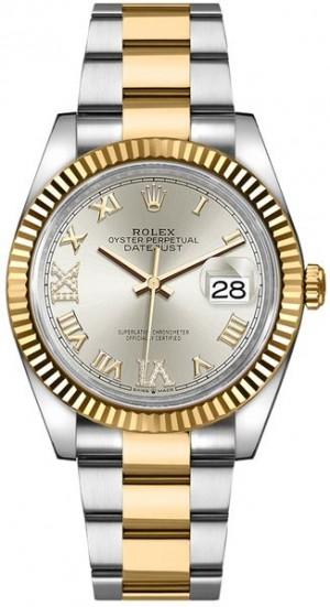 Rolex Datejust Silver Roman Numeral Women's Watch 126233