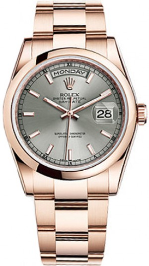 Rolex Day-Date 36 Diamond Dial Watch 118205
