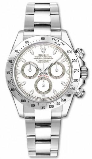 Rolex Cosmograph Daytona White Dial Men's Watch 116520