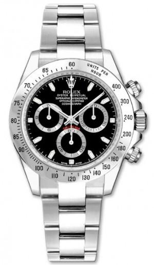 Rolex Cosmograph Daytona Steel Bezel Black Dial 116520