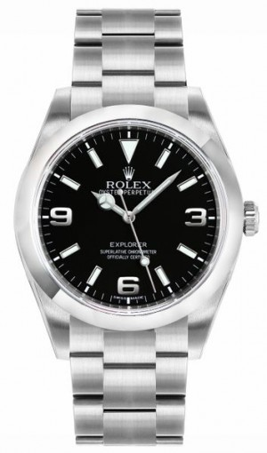 Rolex Explorer Black Dial Men's Watch 214270
