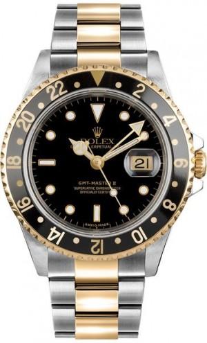 Rolex GMT-Master II Black Dial Men's Watch 16713LN