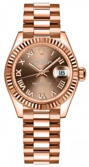 Rolex Lady-Datejust 28 Roman Numerals Women's Watch 279175