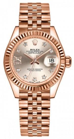 Rolex Lady-Datejust 28 Sundust Dial Diamonds Women's Watch 279175