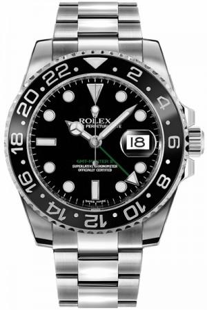 Rolex GMT-Master II Black Dial Oystersteel Men's Watch 116710LN