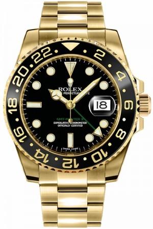 Rolex GMT-Master II Gold Men's Watch 116718