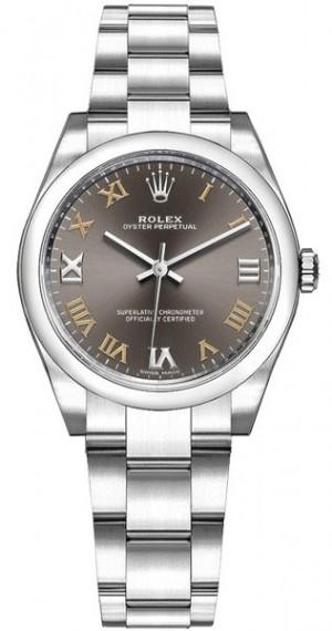 Rolex Oyster Perpetual 31 Dark Grey Dial Women's Watch 177200