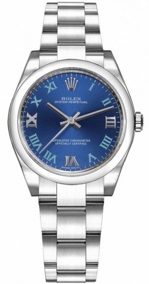 Rolex Oyster Perpetual 31 Blue Dial Womens Watch 177200