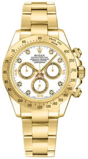 Rolex Cosmograph Daytona White Diamond Dial Watch 116528