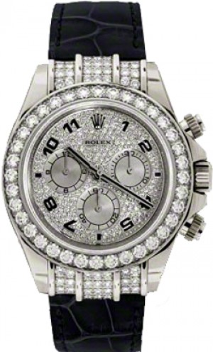 Rolex Cosmograph Daytona Pave Dial Watch 116599