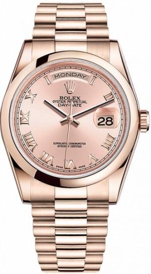 Rolex Day-Date 36 Men's Gold Watch 118205