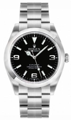 Rolex Explorer Black Dial Automatic Men's Watch 214270