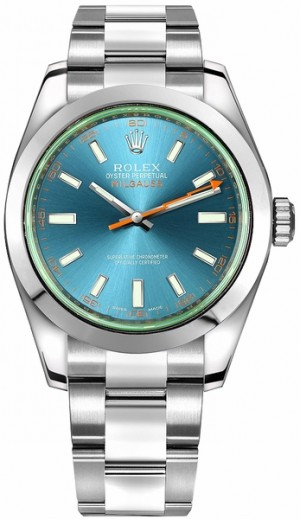 Rolex Milgauss Z-Blue Dial Luxury Men's Watch 116400GV