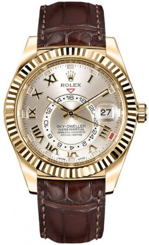 Rolex Sky-Dweller Gold Watch 326138