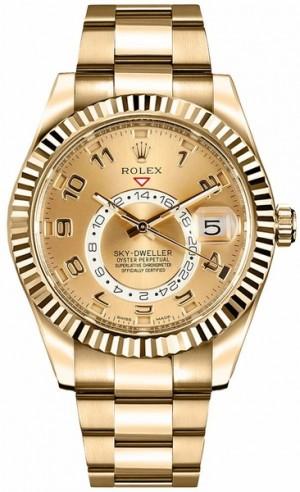 Rolex Sky-Dweller Men's Gold Watch 326938