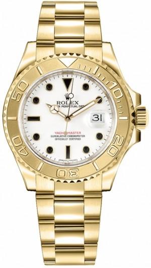 Rolex Yacht-Master 35 Men's Gold Watch 168628