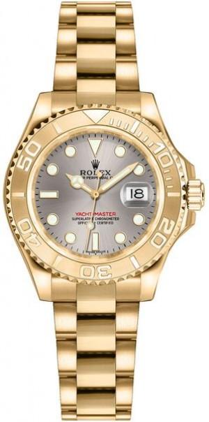 Rolex Yacht-Master 29 Women's Gold Watch 169628