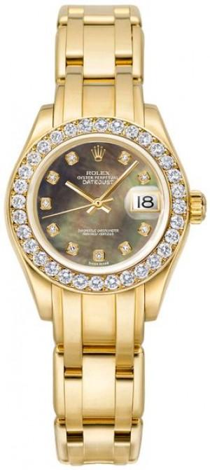 Rolex Pearlmaster Diamond Dial Women's Watch 80298