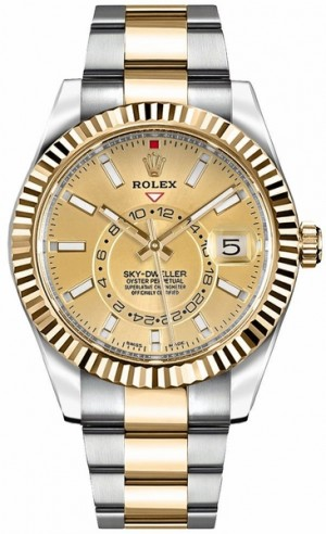 Rolex Sky-Dweller Champagne Dial Men's Watch 326933