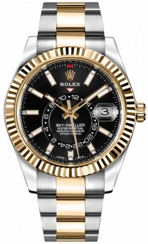 Rolex Sky-Dweller Black Dial Men's Watch 326933