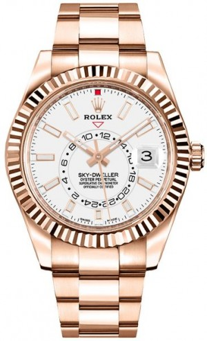 Rolex Sky-Dweller White Dial Men's Watch 326935