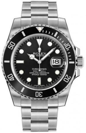 Rolex Submariner Date Black Dial Men's Watch 116610LN