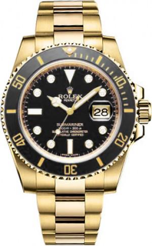 Rolex Submariner Date Gold Watch 116618