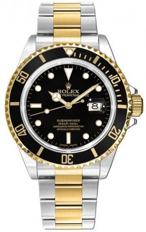 Rolex Submariner Date Two Tone Men's Watch 16613LN