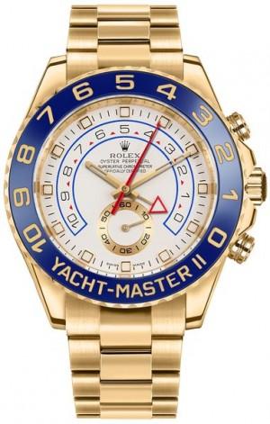 Rolex Yacht-Master II 18k Yellow Gold Men's Luxury Watch 116688